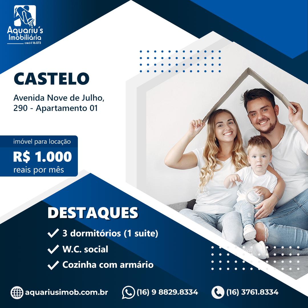 Avenida Nove de Julho, 290 – Apartamento 01 – CASTELO