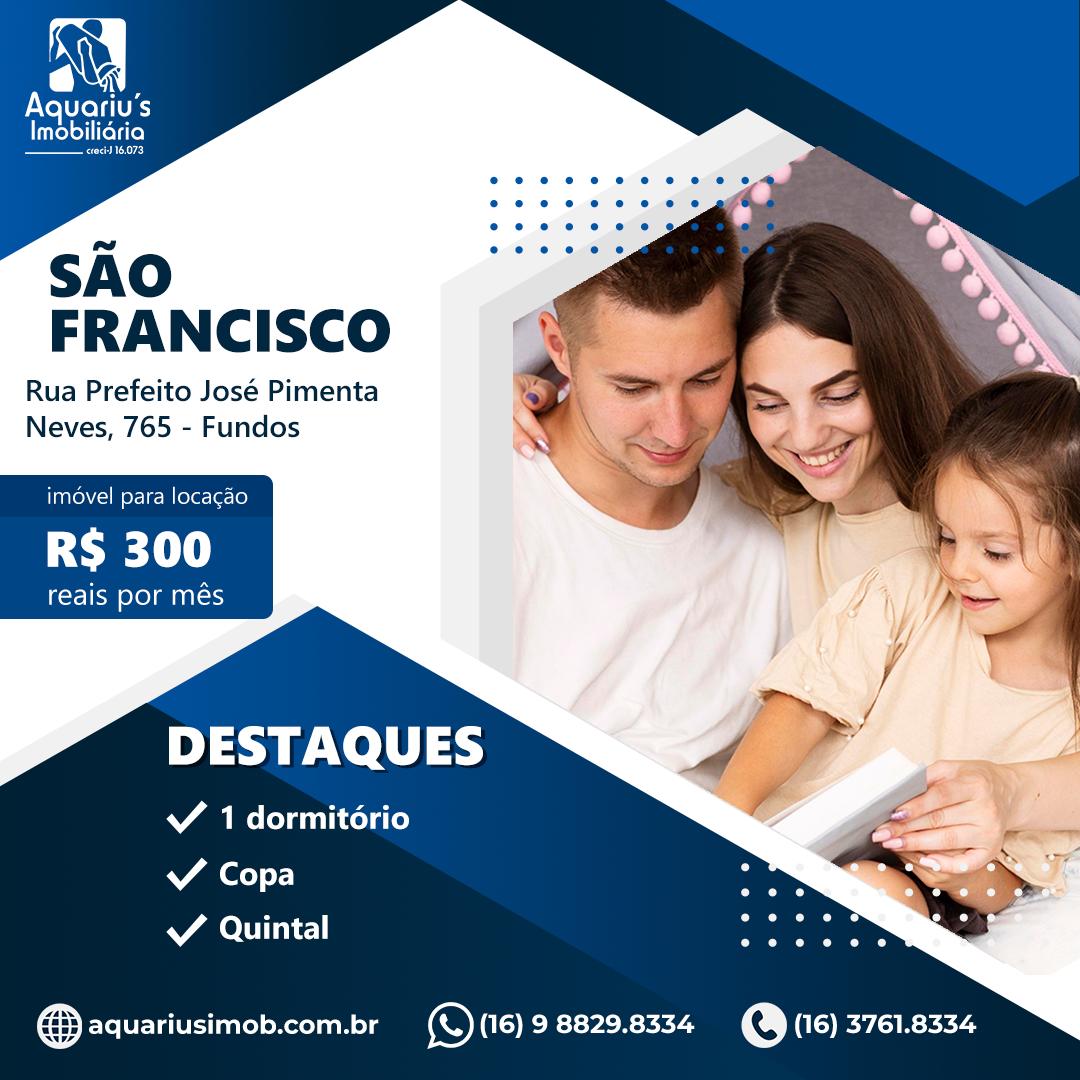 Rua Prefeito José Pimenta Neves, 765 – Fundo – SÃO FRANCISCO