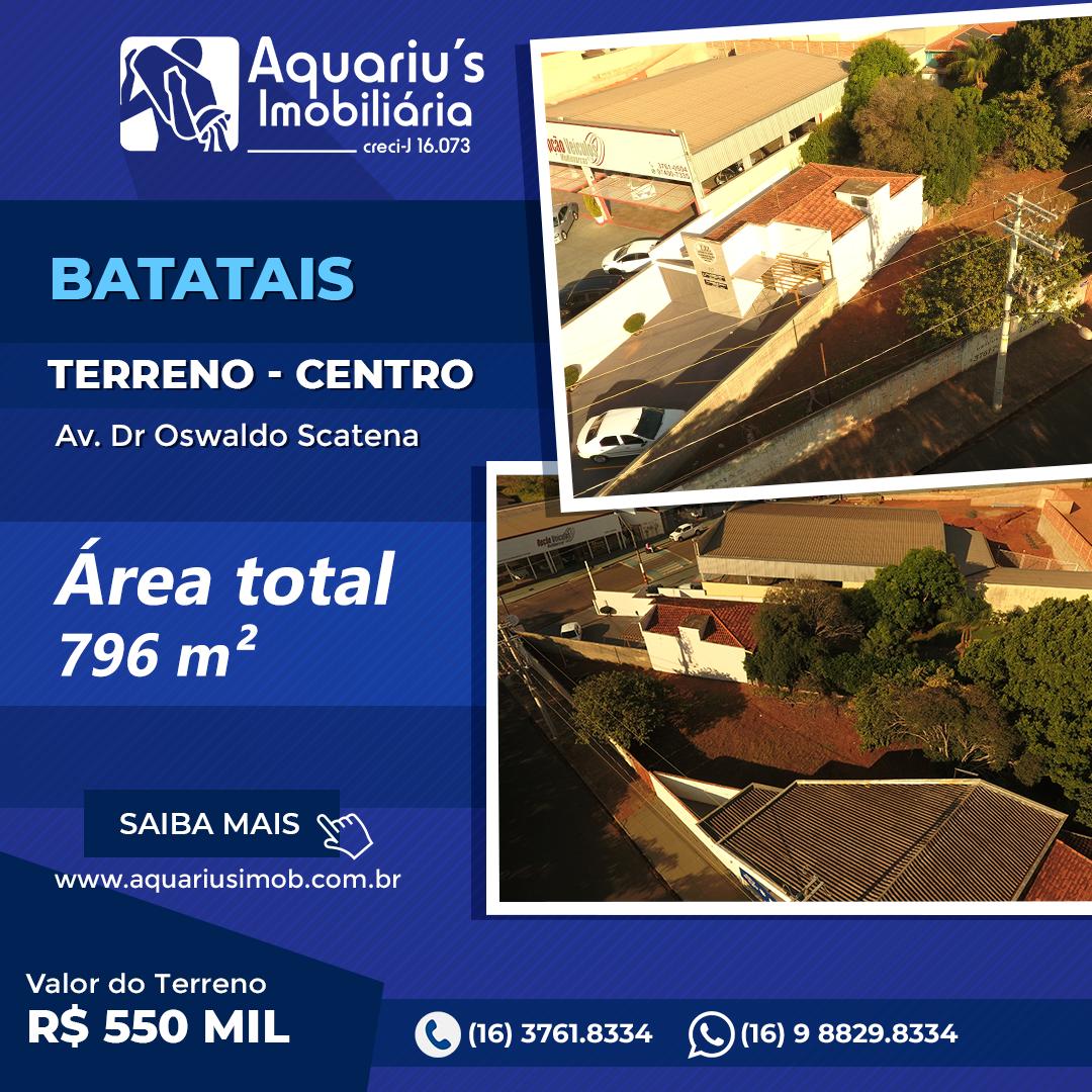Av. Dr. Osvaldo Scatena (Excelente localização próximo ao Fórum, Hospital e Terminal Rodoviário)
